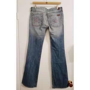 7 For All Mankind A Pocket Flared Jeans 31x33